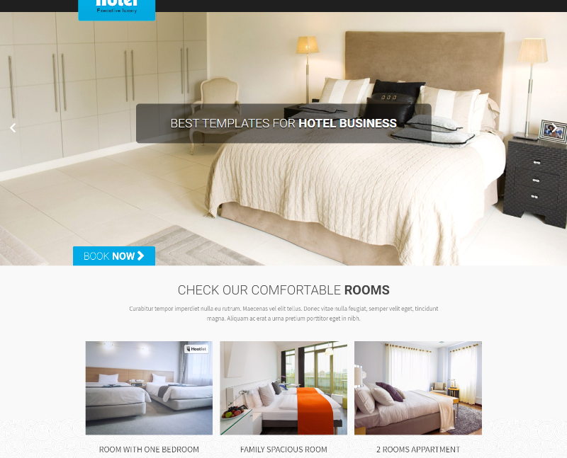 Get your simple hotel website set up in no time using this free hotel WordPress theme
