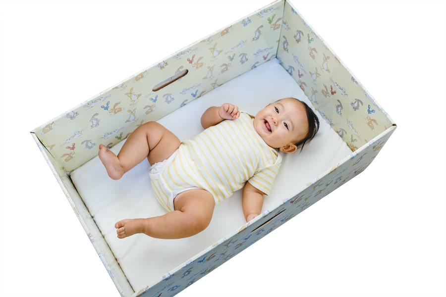 Why do Finnish babies sleep in Cardboard Boxes?