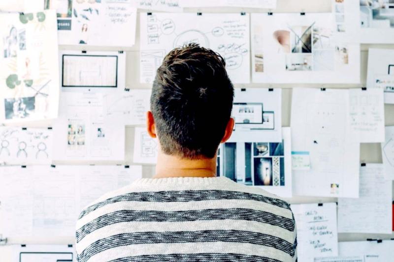 freelancer looking at work plans