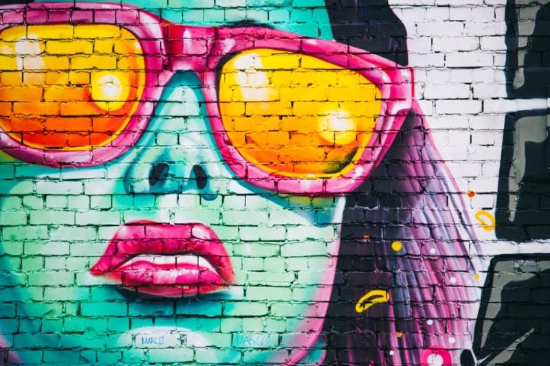 freelancer face drawn on wall