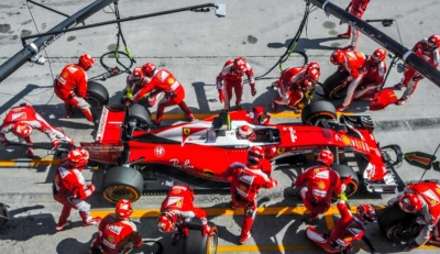 Image of Ferrari Formula One in Pit Stop