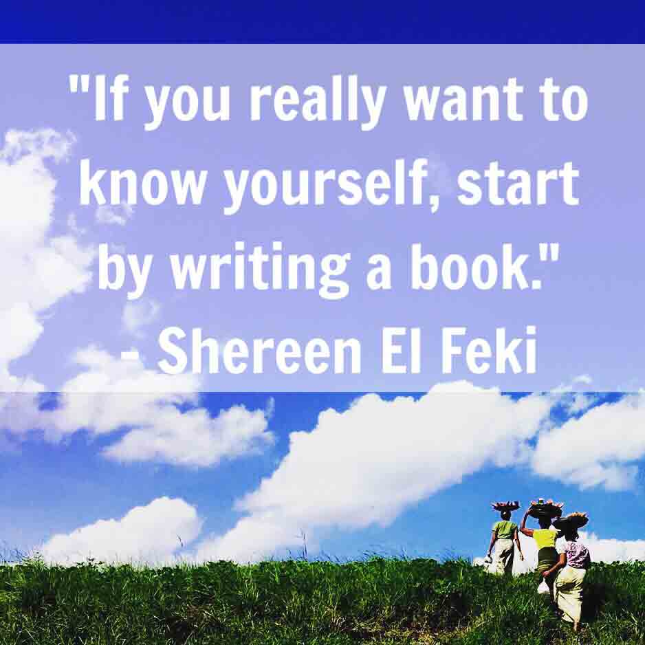 if you really want to know yourself, start by writing a book